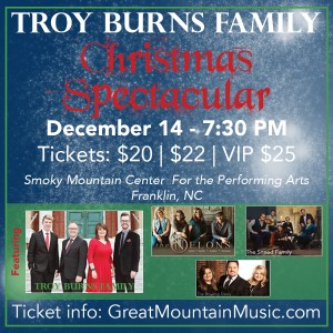 "Troy Burns Family ""Christmas Spectacular"" @ Smoky Mountain Center for the Performing Arts 