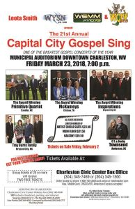 Charleston, WV - Capital City Gospel Sing @ Municipal Auditorium | Charleston | West Virginia | United States