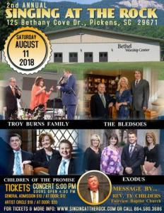 """Singing At The Rock"" Pickens, SC @ Table Rock Retreat & Conference Center 