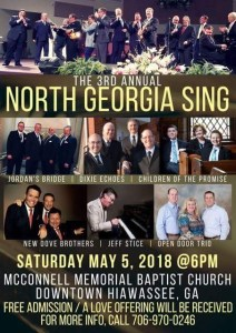 TBF @ 3rd Annual North Georgia Sing @ McConnell Memorial Baptist Church | Hiawassee | Georgia | United States