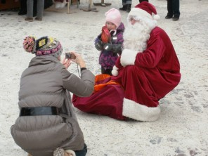 snapped with Santa Claus, Tallinn Estonia