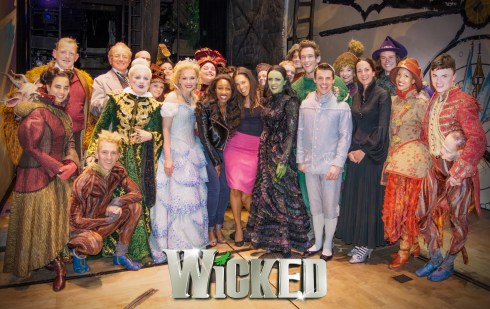 Beverley Knight with the company of Wicked.