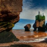 flowepot rocks in the Bay of Fundy, home of the worlds highest tides.