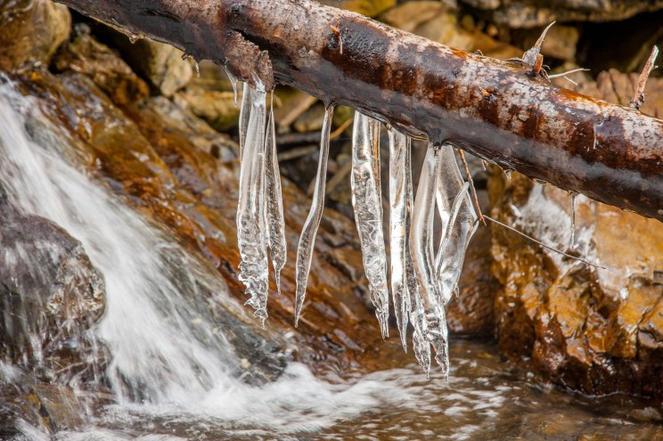 Ice at the waterfall