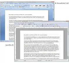 Screen shot Office and OpenOffice