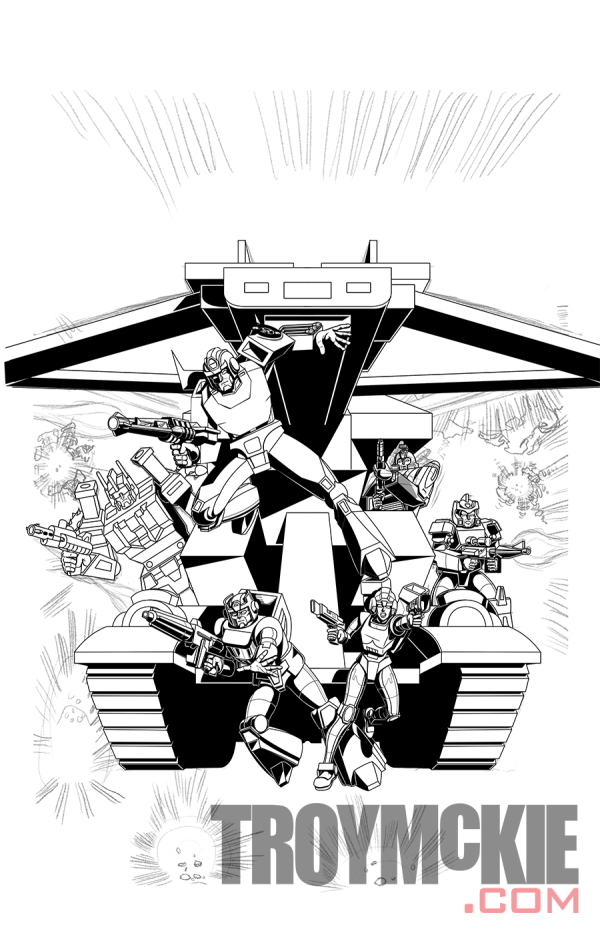 Transformers the Movie Comic Cover Art