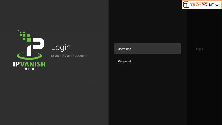 Step 6 - Input VPN Username & Password