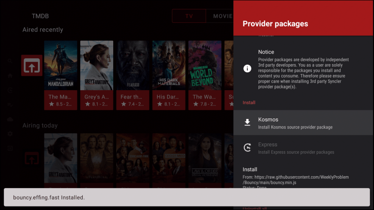 provider package installed
