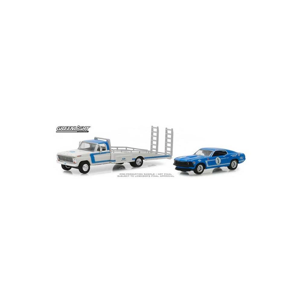medium resolution of greenlight hd trucks series 15 1969 ford f350 ramp truck with 1969 ford mustang