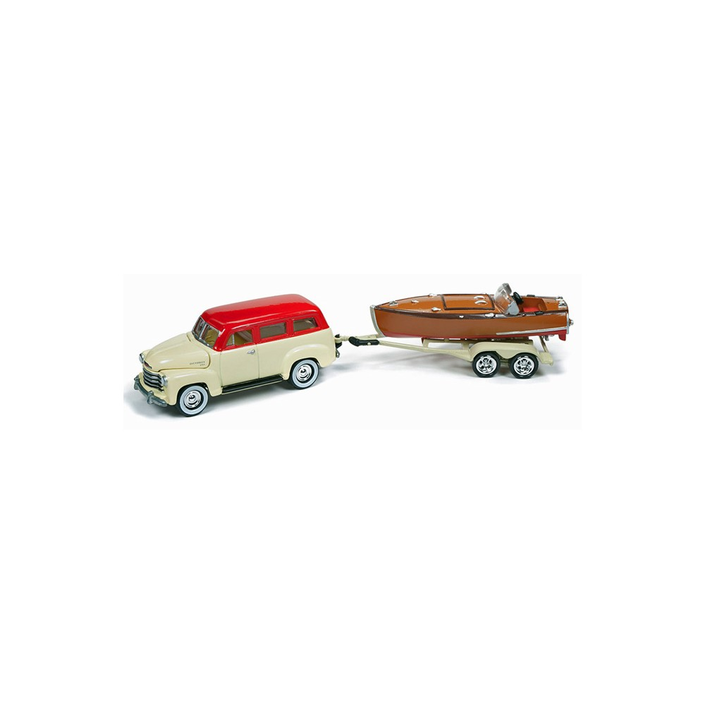 medium resolution of new johnny lightning hull and haulers 1950 suburban with boat