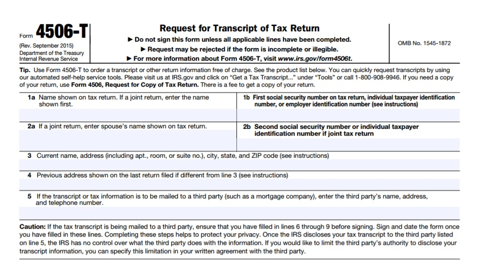 Order Irs Transcripts Tax Resolution Professionals A Nationwide