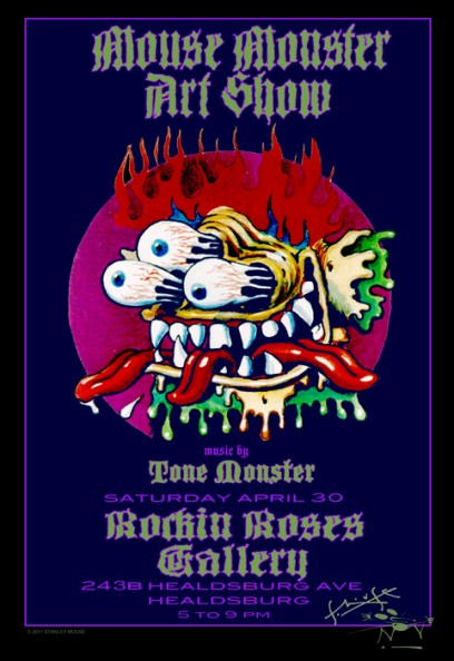 Mouse Monster Art Show at Rockin Roses Gallery