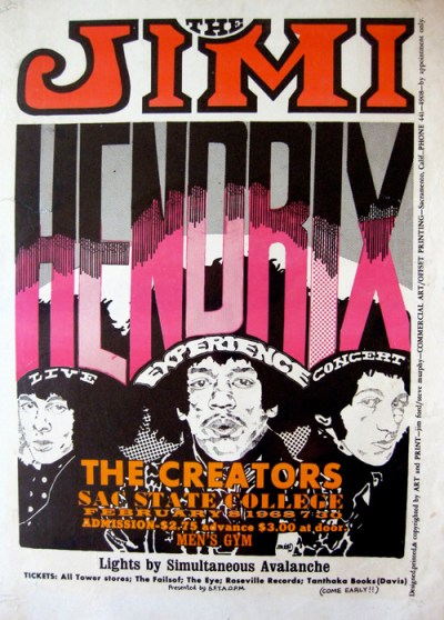 Jimi Hendrix poster by Jim Ford, 1968