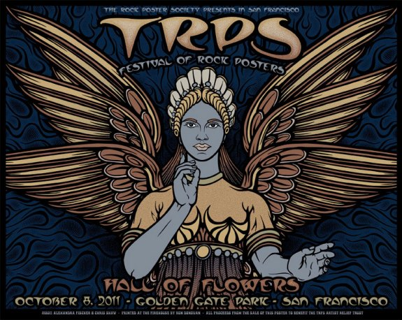 TRPS Festival of Rock Posters 2011 silkscreen poster by Alexandra Fischer and Chris Shaw