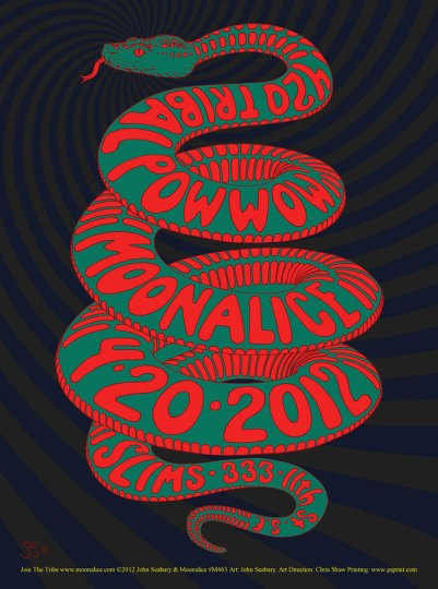4/20/12 Moonalice poster by John Seabury