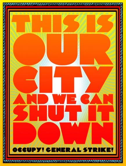 Occupy poster by Chuck Sperry