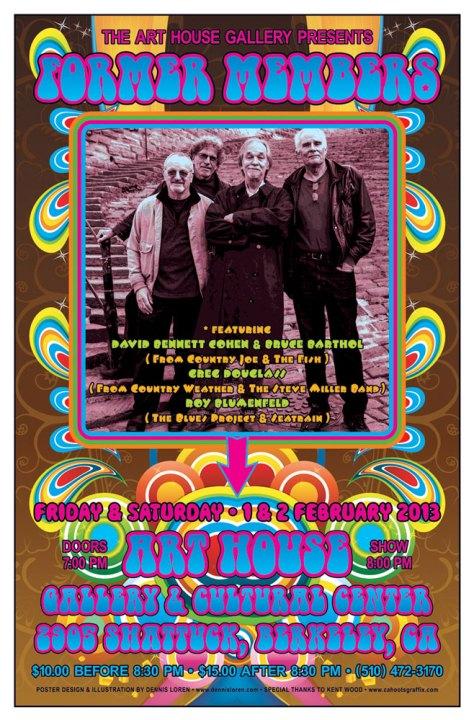 Former Members rock poster by Dennis Loren