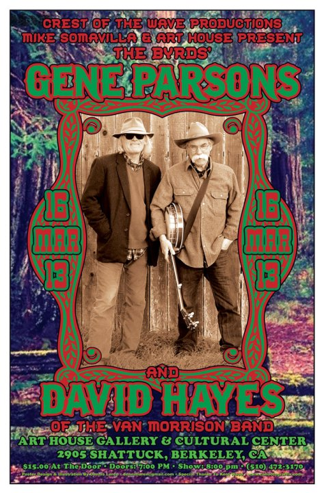 Parsons and Hayes rock poster by Dennis Loren