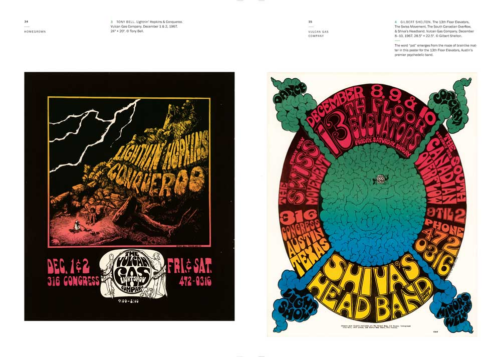 Homegrown Austin Music Posters, 1967-1982