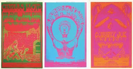 John Moehring, Three Eagles Auditorium posters, October and November, 1967