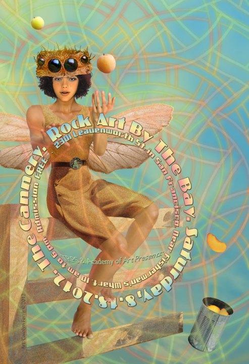 Rock Art by the Bay 2012 poster by Carolyn Ferris