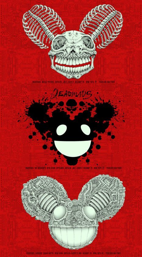 DeadMau5 at New York poster by EMEK, 2010