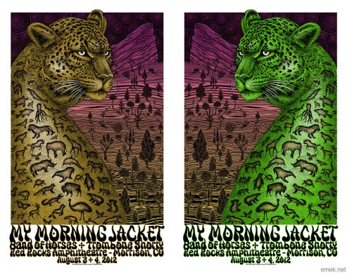 My Morning Jacket at Red Rocks poster by EMEK, 2012