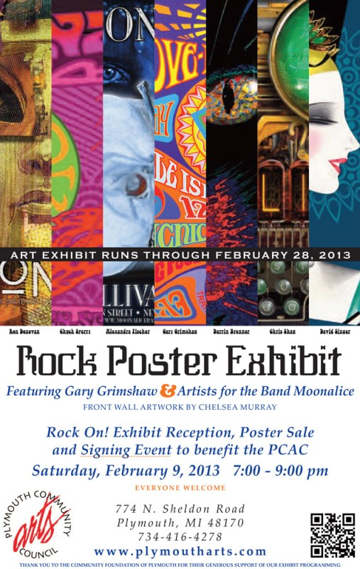 Rock On! Poster Exhibit at Plymouth Arts Center