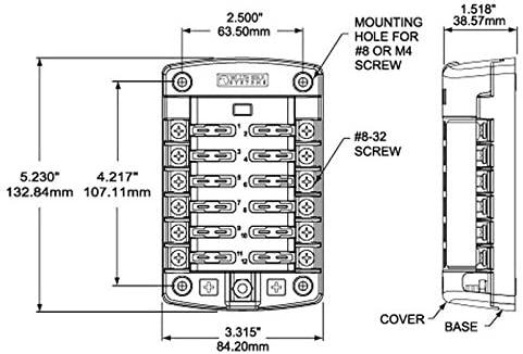 Blue Sea Systems 12-Circuit Fuse Holder