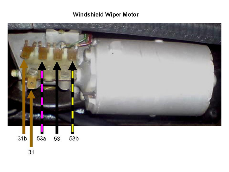 vw bug wiper motor wiring