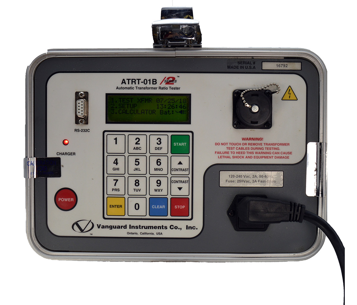 Vanguard Atrt 01b S2 Transformer Turns Ratio Tester