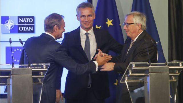 Υπογραφή κοινής δήλωσης για τη συνεργασία ΕΕ με ΝΑΤΟ