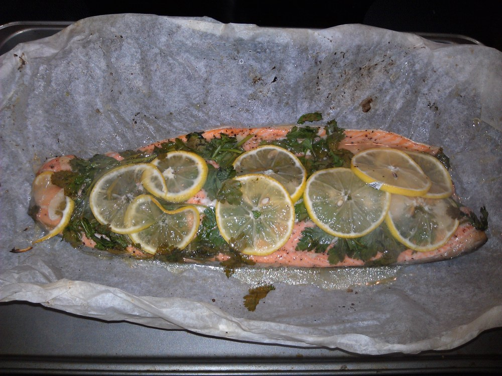 Baked Trout in Parchment