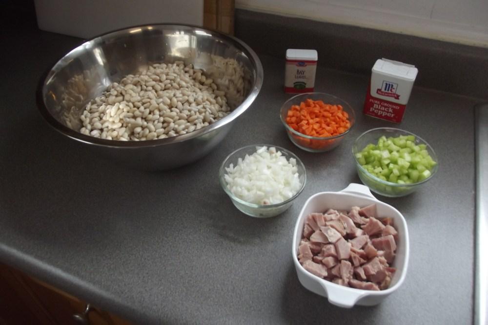 White Bean Soup with Leftover Ham; Recipe (2/2)