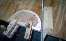 гнем деревянным трубогибочным приспособлением