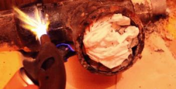 Фото: сварка унитаза с канализационной трубой