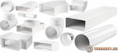 фото: пластиковые элементы для вентиляционной системы