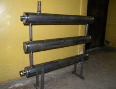 Фото: Регистры отопления из стальных труб