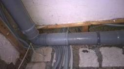 Фото 11. Сливная система для сброса жидкости в канализацию