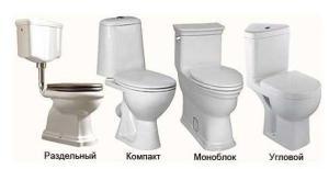Фото - разновидности унитазов для туалетной комнаты