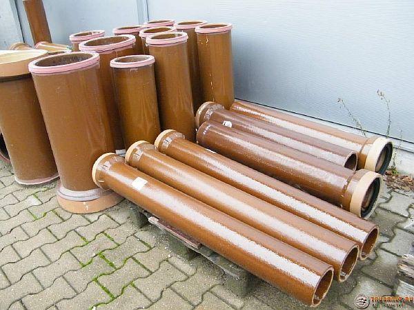 Фото – керамические канализационные трубы