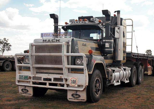 Truck Photos  Mack Super Liner Spotted Out The Back Of
