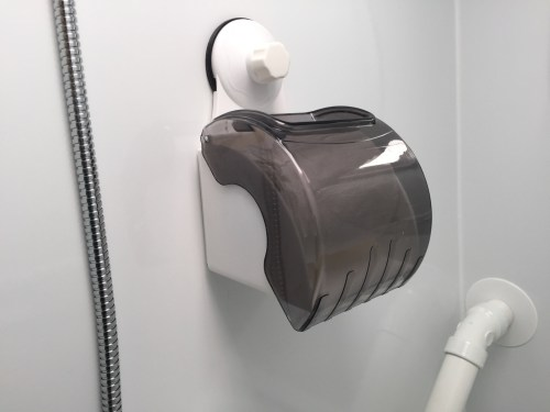 Northstar Laredo SC - Toilet Paper Shroud - Truck Camper Adventure