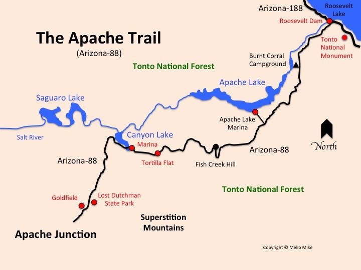 apache trail map - Truck Camper Adventure
