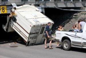 truck camper accident bridge - Truck Camper Adventure