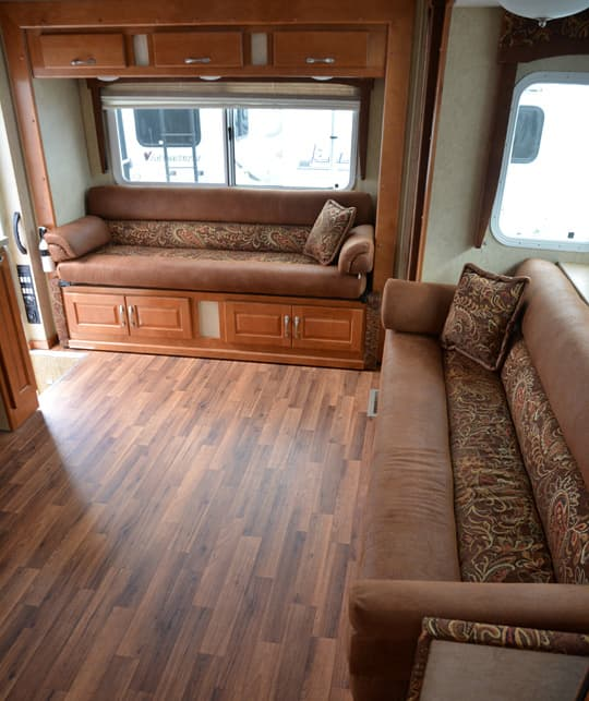 who sells sofas red sofa what colour rug chalet rv's double camper - truck magazine