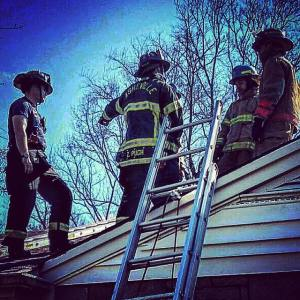 Vertical Ventilation Firefighter Training