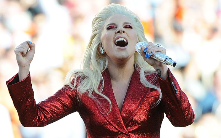 And wow, Gaga's rendition of the National Athem took my breath away. Photo by MediaPunch/REX/Shutterstock (5583307d) Lady Gaga Denver Broncos v Carolina Panthers, Super Bowl 50, American Football, Levi's Stadium, Santa Clara, America - 07 Feb 2016 Laday Gaga sings the National Anthem