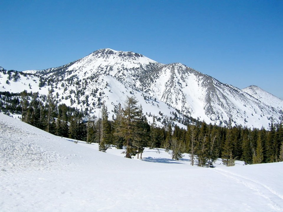 Mt Rose with above average snowpack in mid-April 2005 following 5 years of drought and below average snowpacks