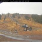 Boreal Ridge Ski webcam screen capture on morning of 10/28/16